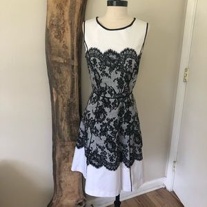 NY&C Lace Pattern Fit and Flare Dress Dress
